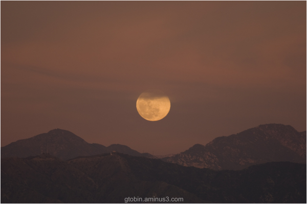 Copper Moon over Los Angeles