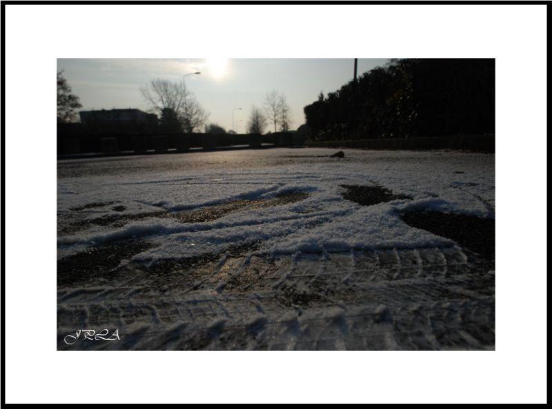 Une fine couche de neige...