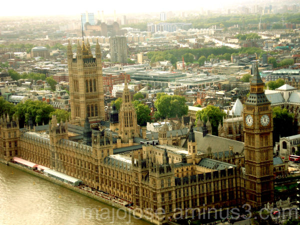 Westminister, as seen from London Eye