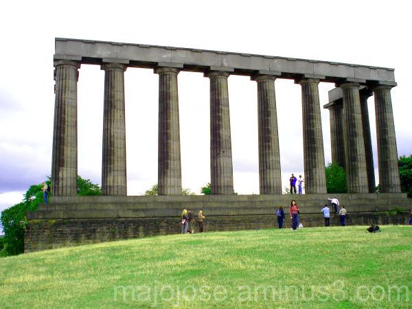 National Monument on Calton Hill, Edinburgh, Scotl