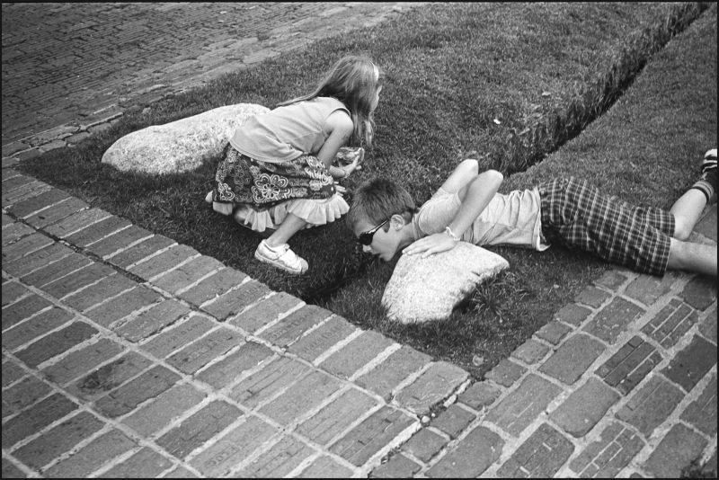Children play in downtown Aspen