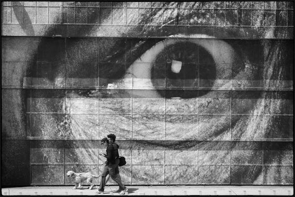 Walking past the eye