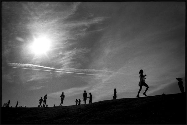Runners in the hills