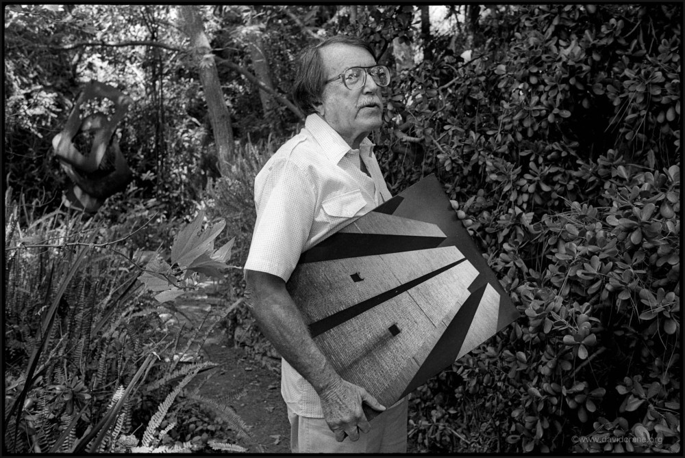 Julius Shulman in his forest