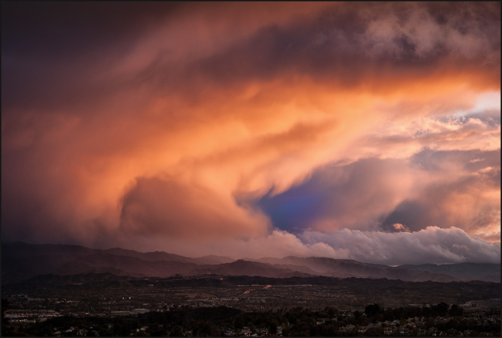 A winter storm in Southern California