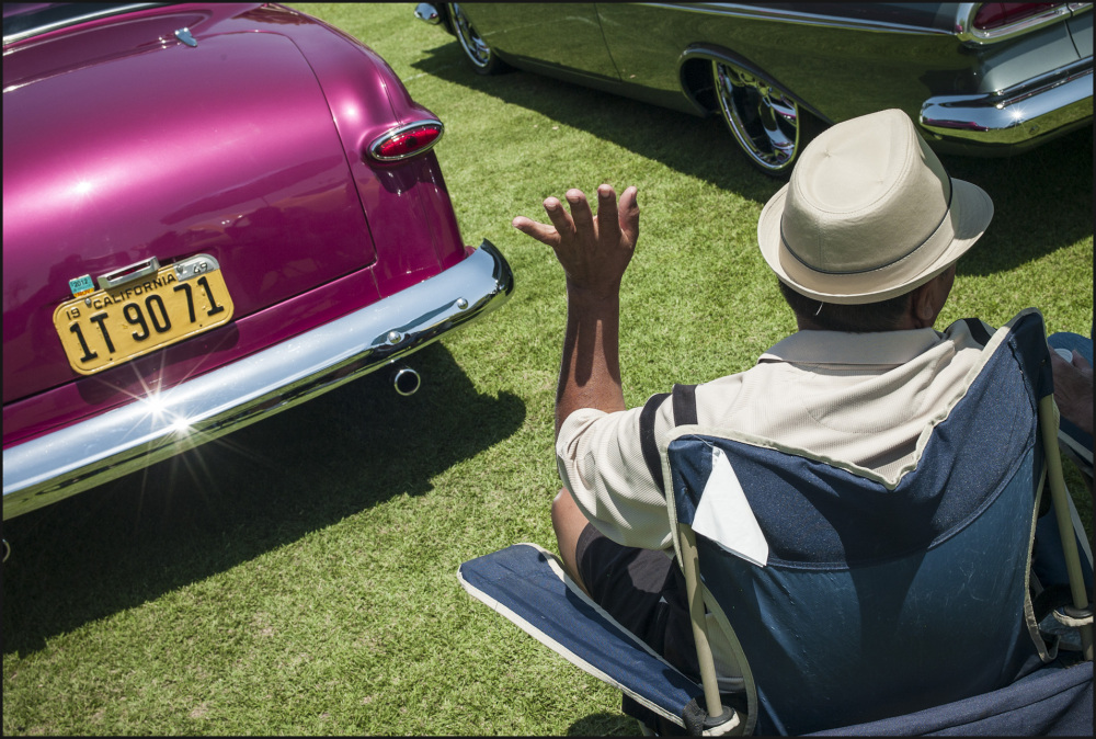 Car stories at a vintage car show