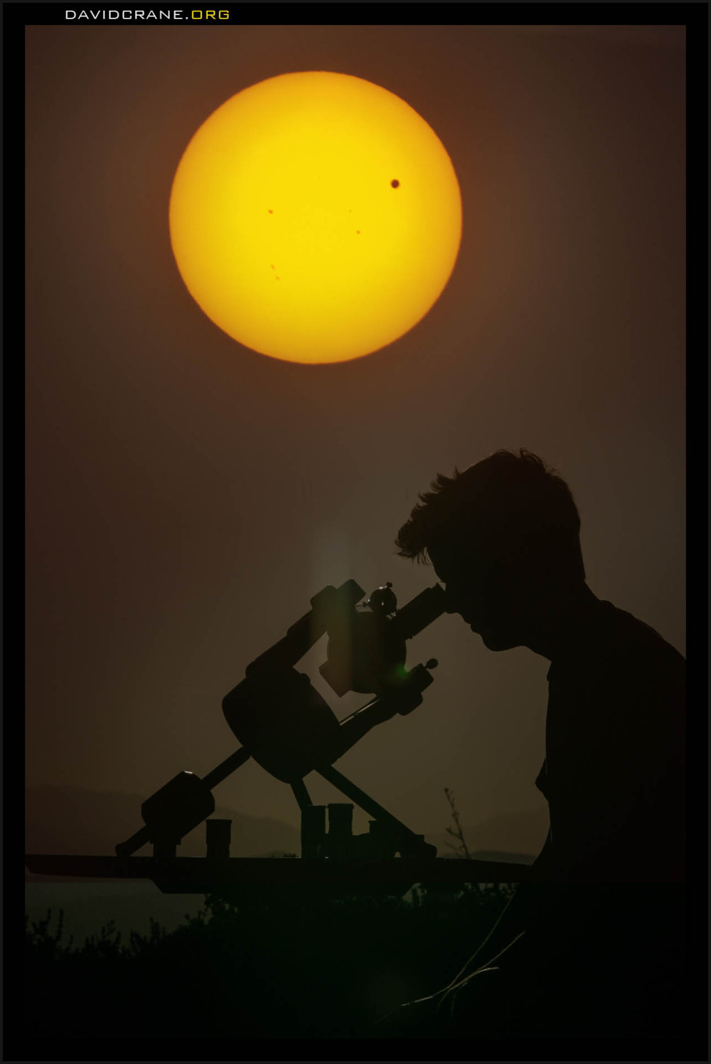 Venus crosses the sun
