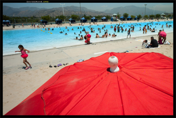 Sun and shade at the local pool