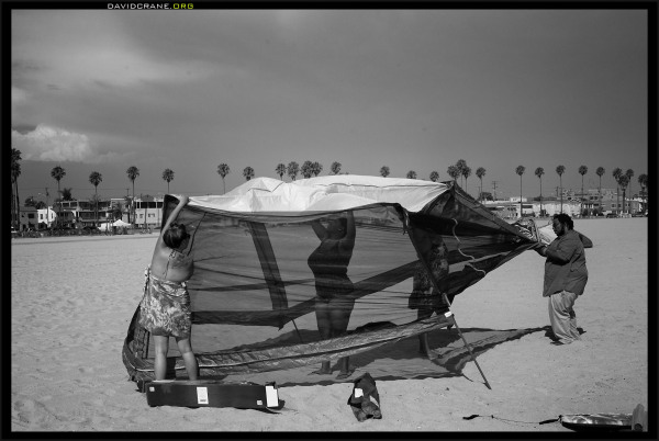 Tenting in Long Beach
