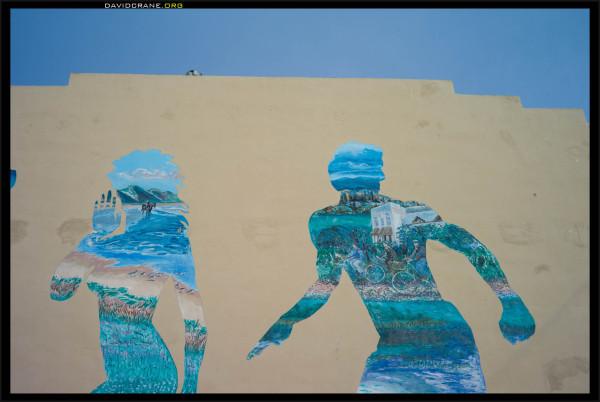 A sporting mural near Long Beach