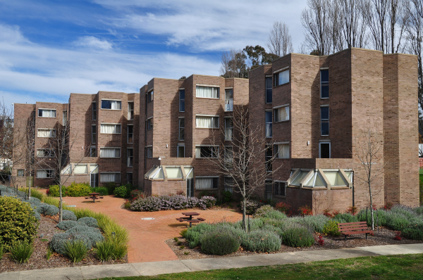 View of ANU student residence building, Toad Hall