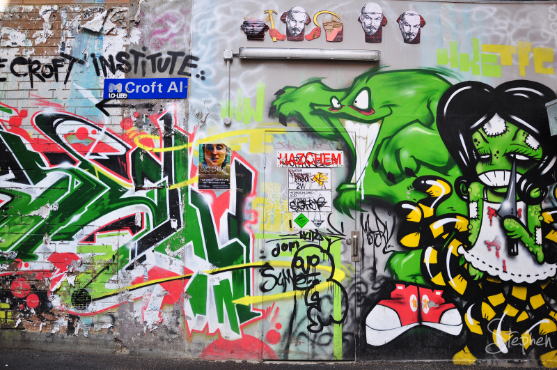 Laneway graffiti in Melbourne's Chinatown