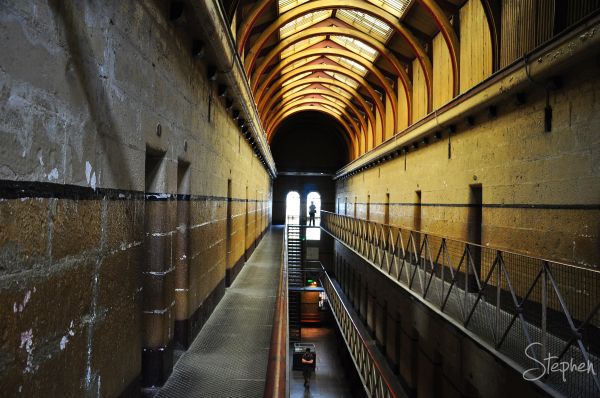 Cell block at the Old Melbourne Gaol