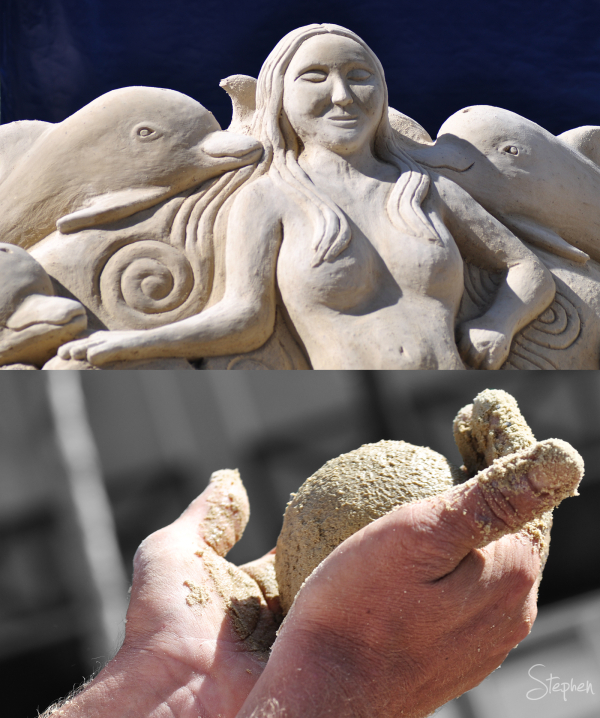 Sand sculpture by Steve Machell in Canberra City