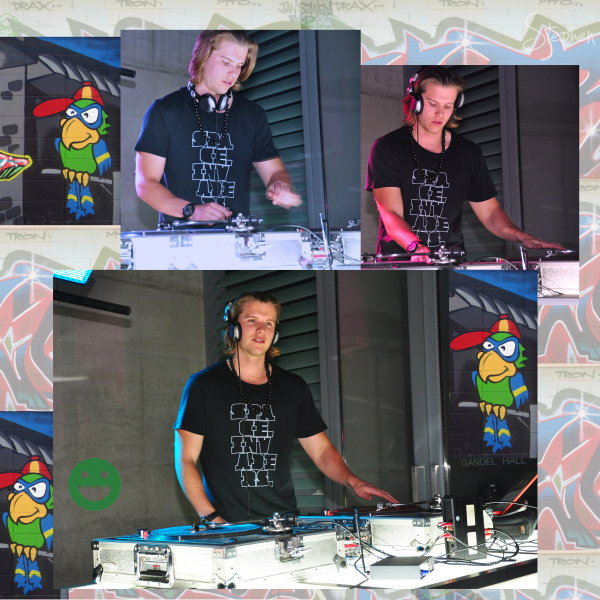 DJ Rush at the opening of Space Invaders