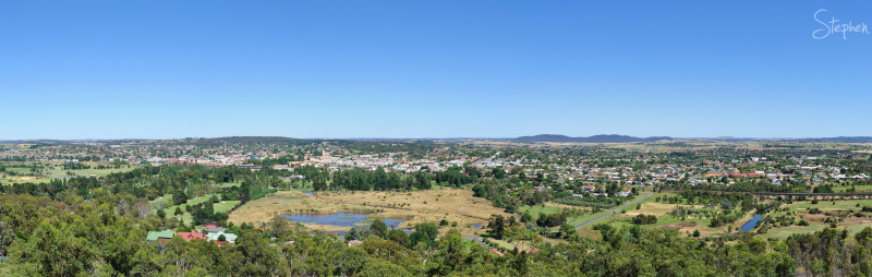 Panorama of the city of Goulburn