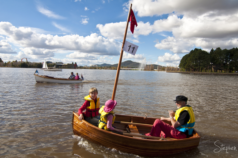 Classic Boat Festival on Lake Burley Griffin