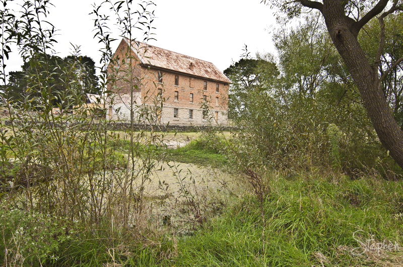 Dransfield's old flour mill at Millpond Farm