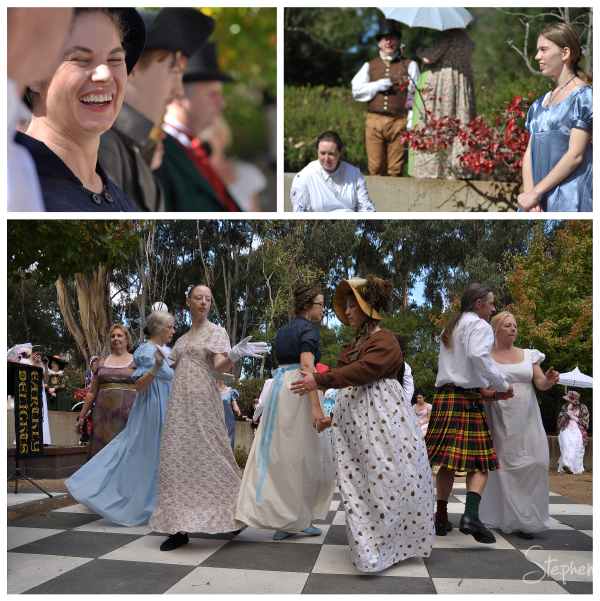 Dancing and activities at the Jane Austen Festival