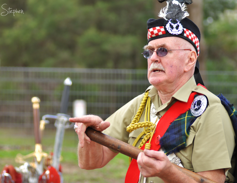 Scottish weaponry at Bundanoon Highland Gathering