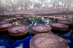 Water feature at John Knight Park in Canberra