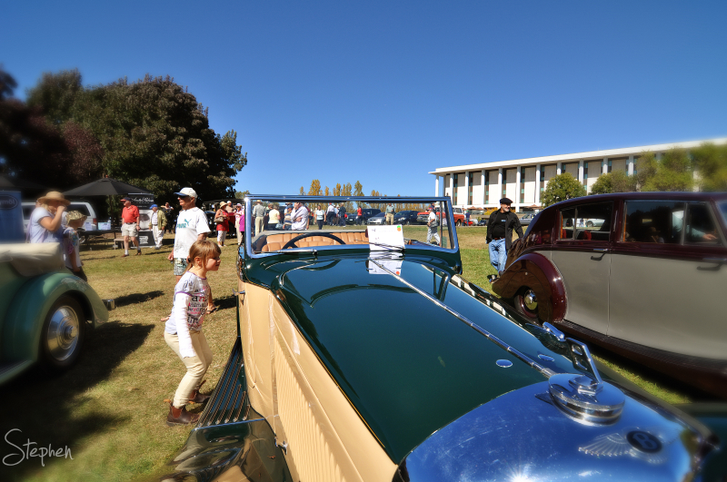 Rolls Royce classic car exhibition in Canberra