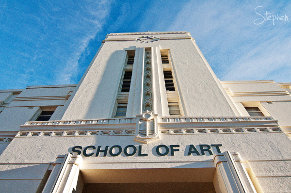 The Art Deco tower of the Canberra School of Art