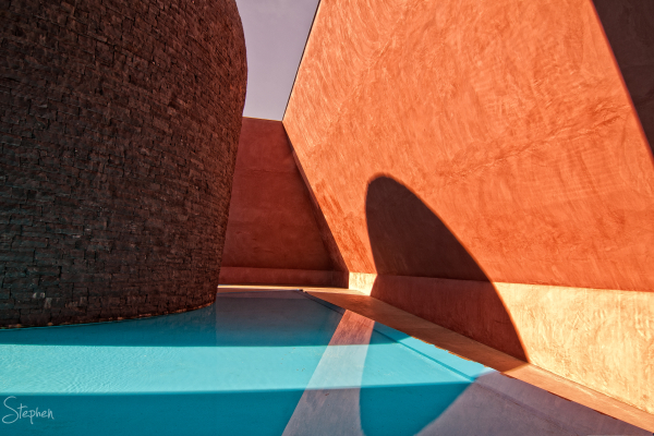 "James Turrell's Skyspace, ""Within-without""."