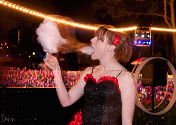 Candid moment from Cirquaholics show at NightFest