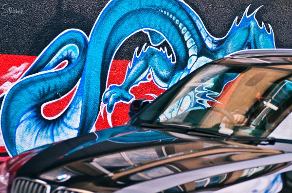 Street art in Civic laneway
