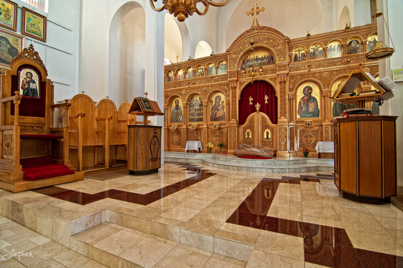 Interior All Saints Greek Orthodox Church Canberra