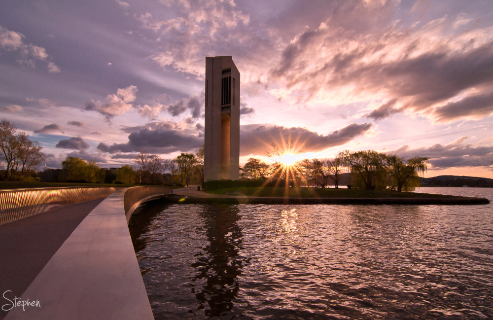 Sunset view of the National Carillon