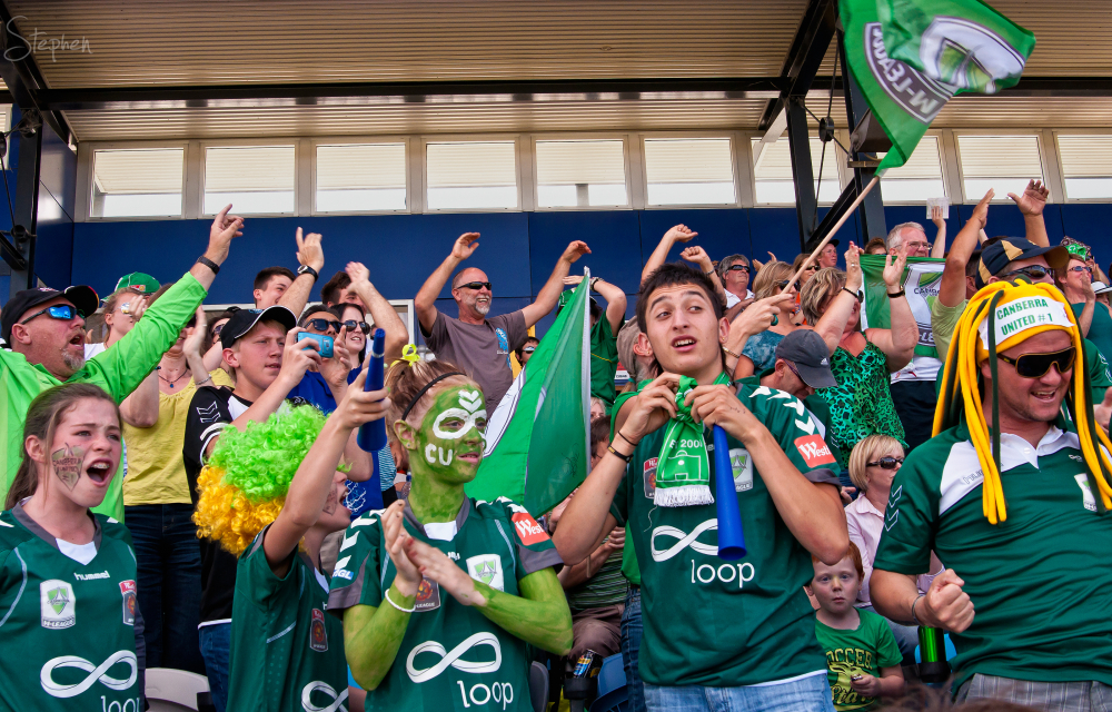 Canberra United fans at the W-League Grand Final