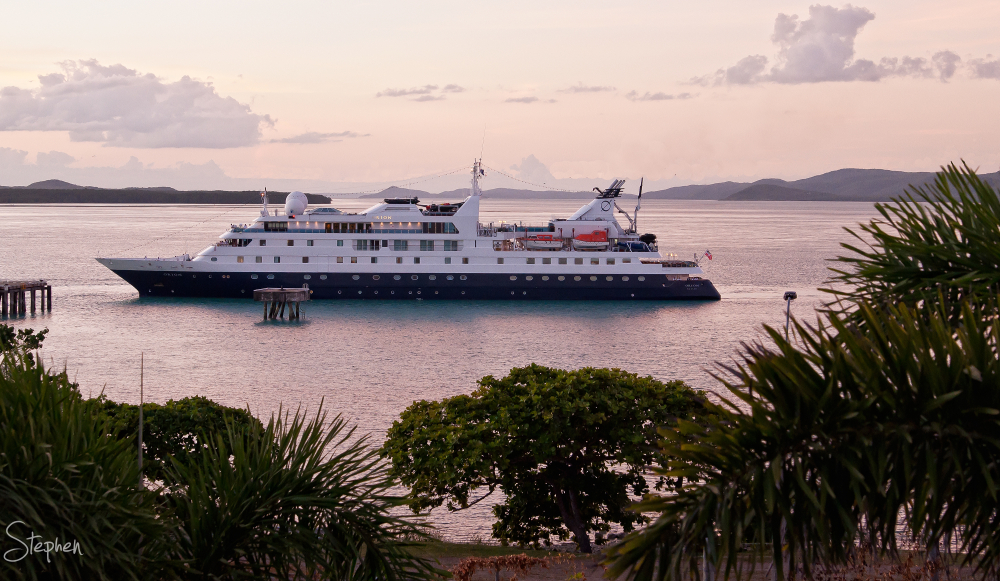 Cruise ship Orion arrives at Thursday Island