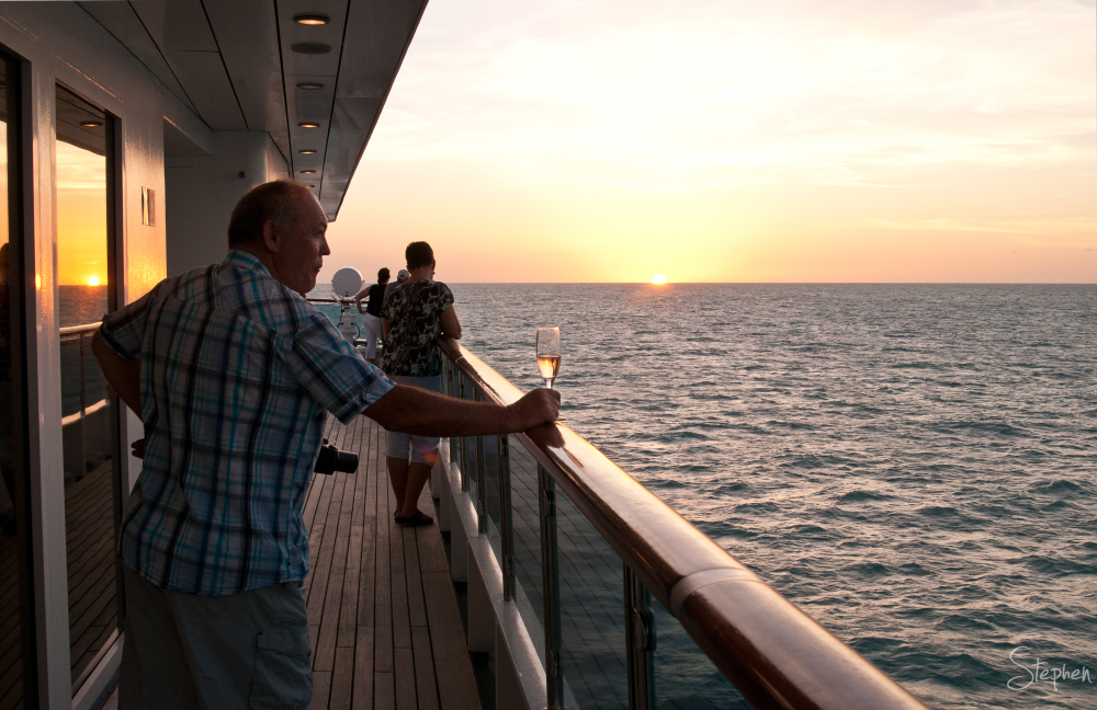 Sunset onboard the cruise ship Orion