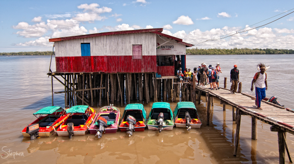 Main jetty at Agats in the Asmat region of Papua