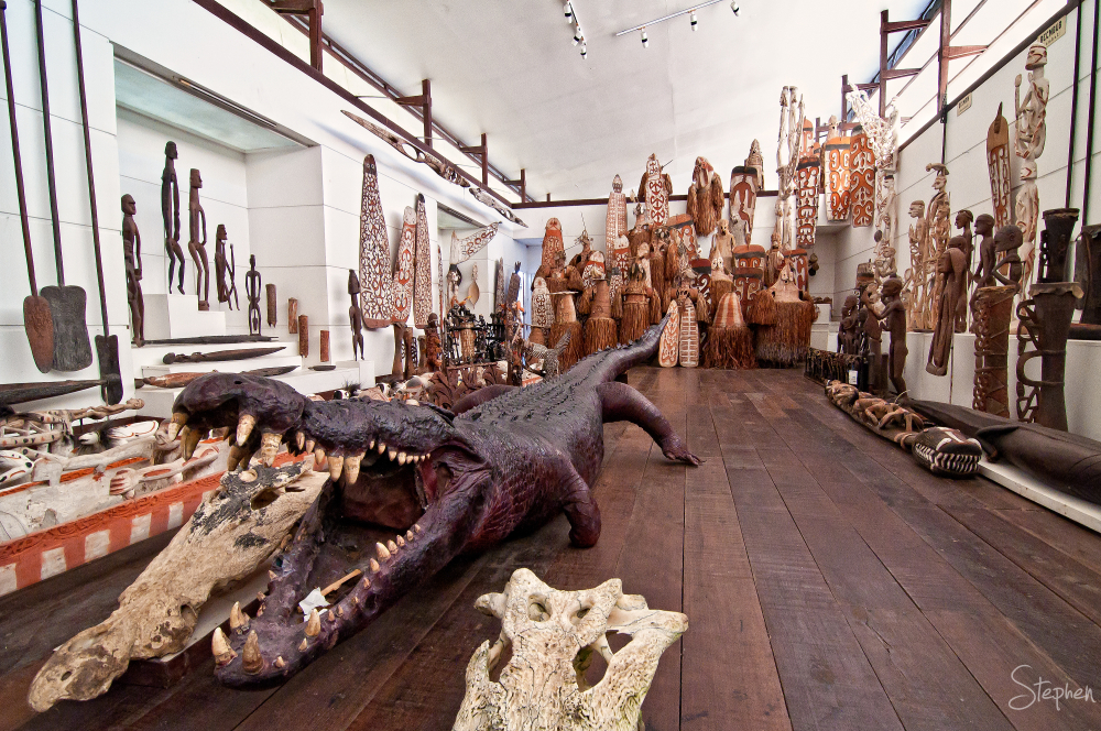 Giant crocodile in the Asmat Museum in Agats