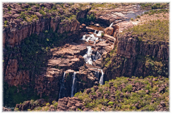 Twin Falls in Kakadu National Park from the air