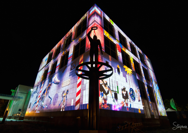 Questacon lights up as part of Enlighten festival