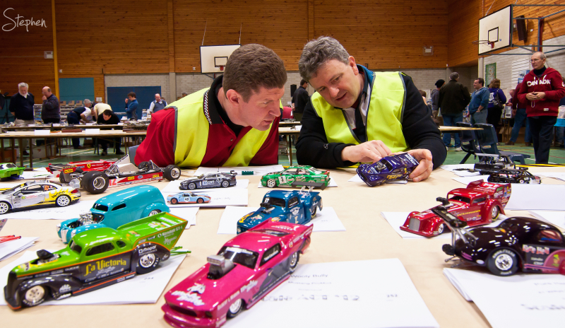 Judges at ACT Scale Modellers