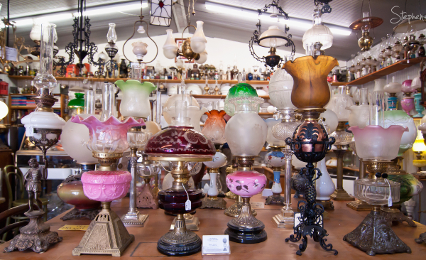 Rare lamps at The Original Lamp Shop in Braidwood
