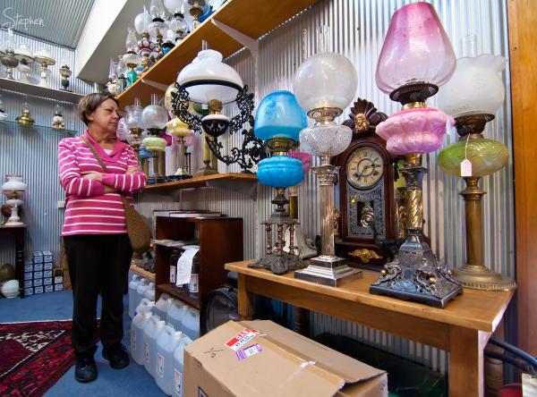 Rare lamps at The Original Lamp Shop in Braidwood