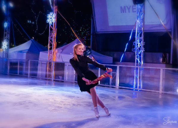Fashion parade on ice at Skate in the City
