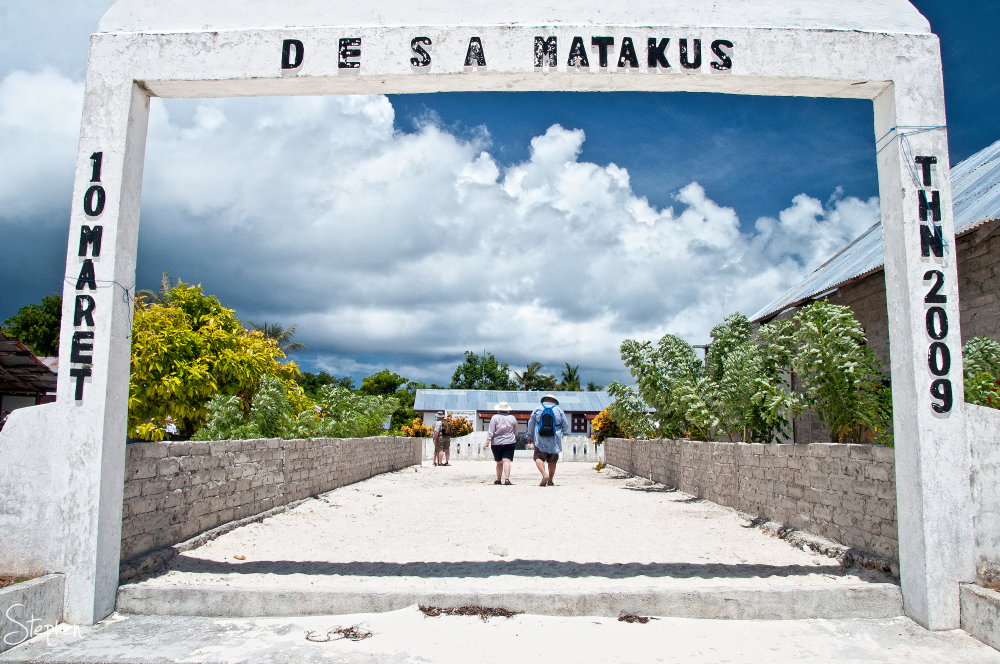 Archway entrance to Matakus near Yamdena Island