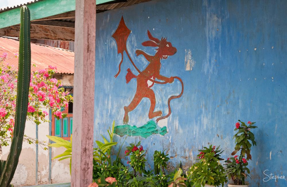 Decoration on house in Matakus near Yamdena Island