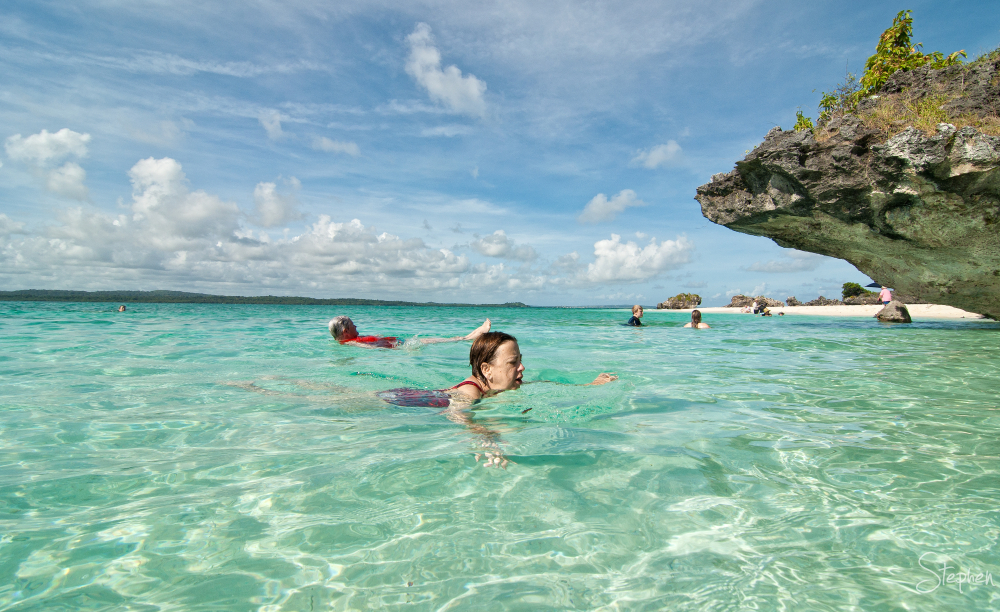 Swim on a desert isle in the Tanimbar Islands