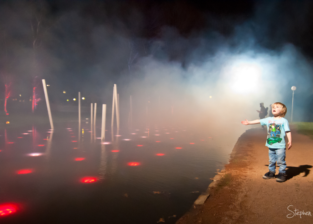 Smoke on the water at Floriade NightFest