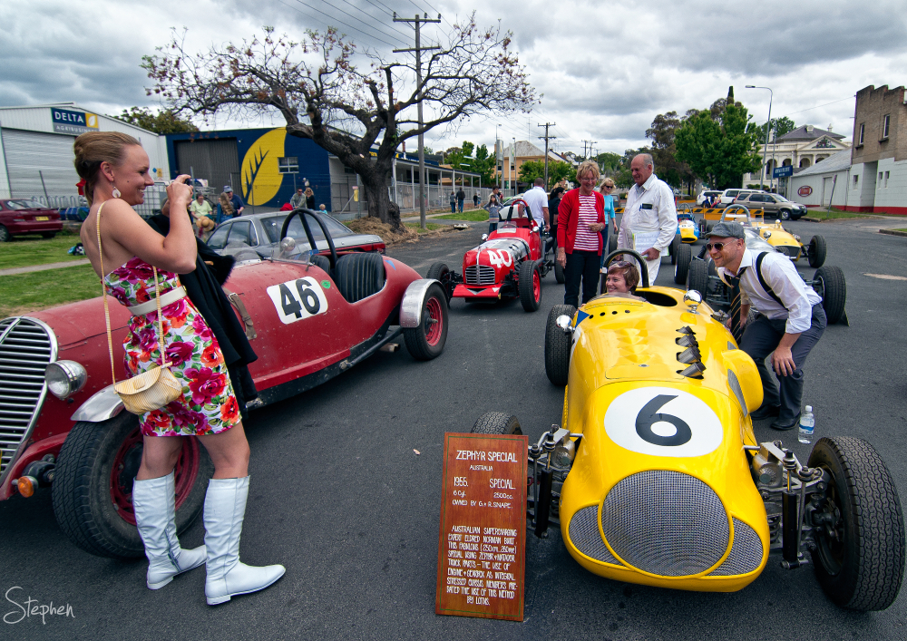 Vintage racing cars at Classic Yass 2012