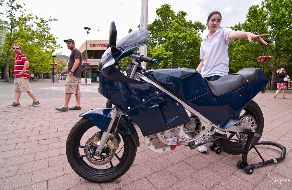 Motor bike at Canberra Electric Vehicle Festival