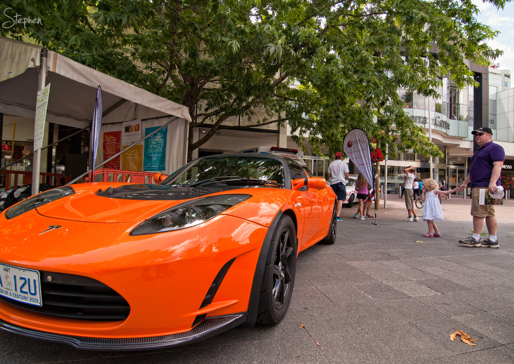 Tesla Roadster at Canberra Electric Vehicle show
